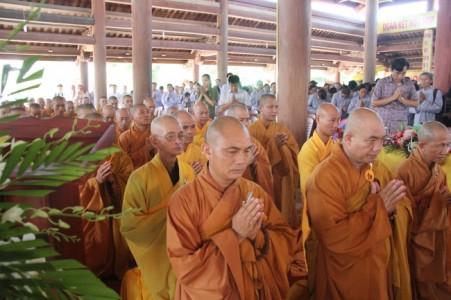 Lễ khai pháp hậu an cư tại Trường hạ chùa Thanh Lương PL 2559