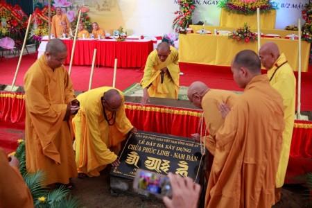 Nghệ An: Lễ động thổ khởi công xây dựng chùa Phúc Linh - Nam Đàn