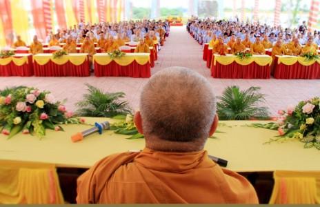 Hà Tĩnh: Lễ tạ pháp mùa an cư kiết hạ PL 2562 và động thổ xây dựng giảng đường