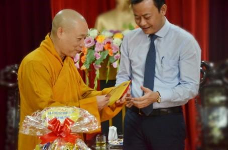 Phật giáo Hà Tĩnh chúc Tết các cơ quan ban ngành