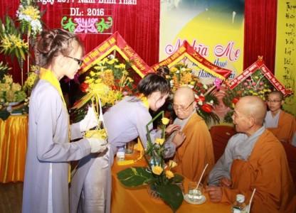 Nghệ An: Chùa Bảo Lâm lễ vu lan và an vị tôn tượng Bồ tát Quan Âm