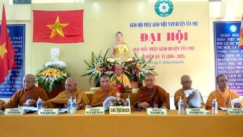 Đồng Nai: PG huyện Tân Phú tổ chức Đại hội đại biểu lần thứ VI (nhiệm kỳ 2016-2021)