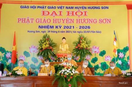 Hà Tĩnh: Đại hội đại biểu Phật giáo huyện Hương Sơn nhiệm kỳ 2021 -2026