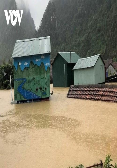 Nhà phao tránh lũ an toàn của người dân miền núi Quảng Bình