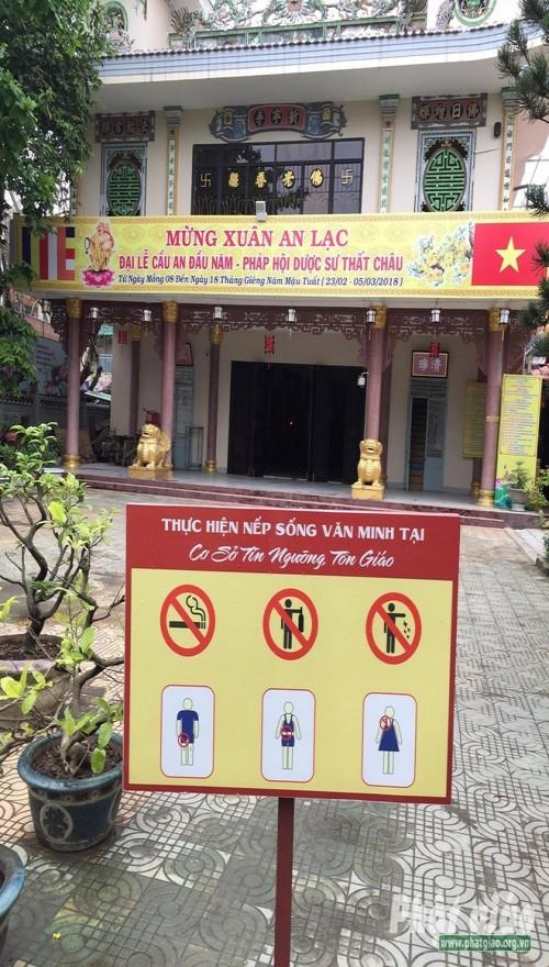 Đà Nẵng: Đặt pano xây dựng nếp sống văn minh tại các cơ sở Phật giáo