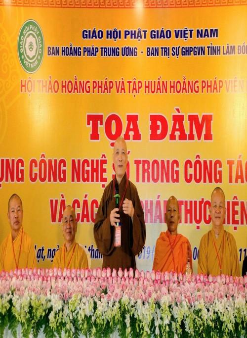 Lâm Đồng: Phiên Hội thảo ngày thứ 3 'Sứ mệnh Hoằng pháp trong thời đại phát triển'
