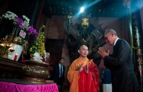 Chuyện tổng thống Obama đi chùa qua góc nhìn đạo Phật
