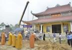 Hà Tĩnh: Chùa Phúc Linh rót đồng đúc tôn tượng Phật Thích Ca cao 5m