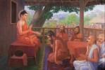Đức Phật dạy ngài Cấp Cô Độc giấc ngủ an lành
