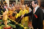 Chủ tịch nước Trần Đại Quang dự lễ Phật đản do TƯ GHPGVN tổ chức