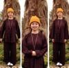 Ly 'Kute' đăng tải loạt ảnh lên chùa và làm từ thiện