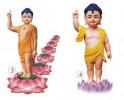 Tôn ảnh Đức Phật đản sanh dùng in ấn