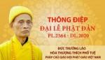 Thông điệp Đại lễ Phật đản PL.2564 - DL.2020