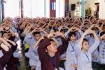 """Khánh Hòa: Hơn 300 bạn trẻ tham dự khóa tu """"Tìm về tuổi thơ"""""""