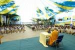 Bình Dương: Gần 1000 học sinh trường liên cấp lắng nghe pháp thoại