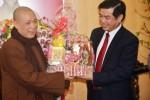 Phật giáo Hà Tĩnh chúc Tết các cơ quan tỉnh