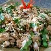 Bánh đa nướng xúc nấm đậu chay