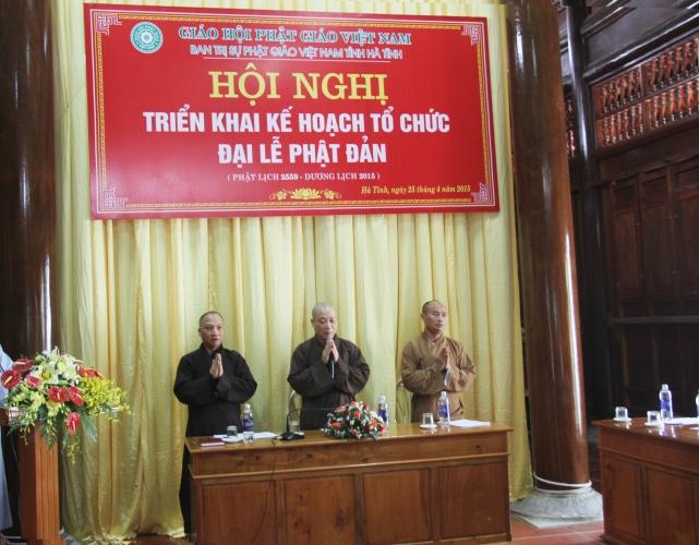 Hà Tĩnh: Triển khai kế hoạch tổ chức lễ Phật đản và An cư kiết hạ PL 2559