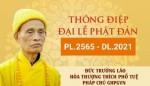 Thông điệp Đại lễ Phật đản PL.2565 của Đức Pháp chủ Giáo hội Phật giáo Việt Nam
