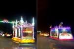 Chùm ảnh: Phật giáo Thành phố Hà Tĩnh diễu hành xe hoa kính mừng Phật đản