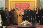 Phật giáo Hà Tĩnh chúc Tết chính quyền tỉnh, khánh tuế HT Trưởng ban