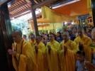 Đạo tràng chùa Thanh Bình hành hương cúng dường An cư kiết hạ 2020