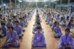 Gần 800 thiện sinh về chùa Từ Xuyên dự khóa tu sen hồng