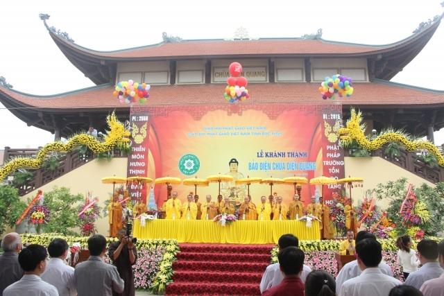 Bắc Ninh: Đại lễ lạc thành ngôi Đại hùng Bảo điện chùa Diên Quang