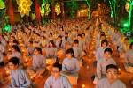 Chùa Bằng: Rực rỡ đêm  hoa đăng kính mừng ngày Đức Phật Thích Ca Mâu Ni thành đạo